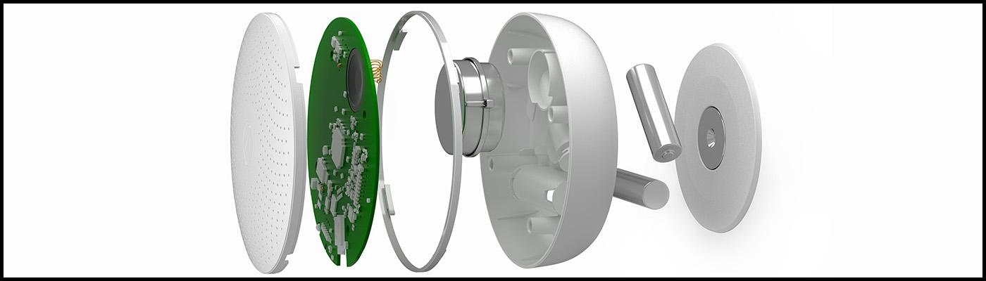 En aktiv radonmåler er spækket med avanceret elektronik